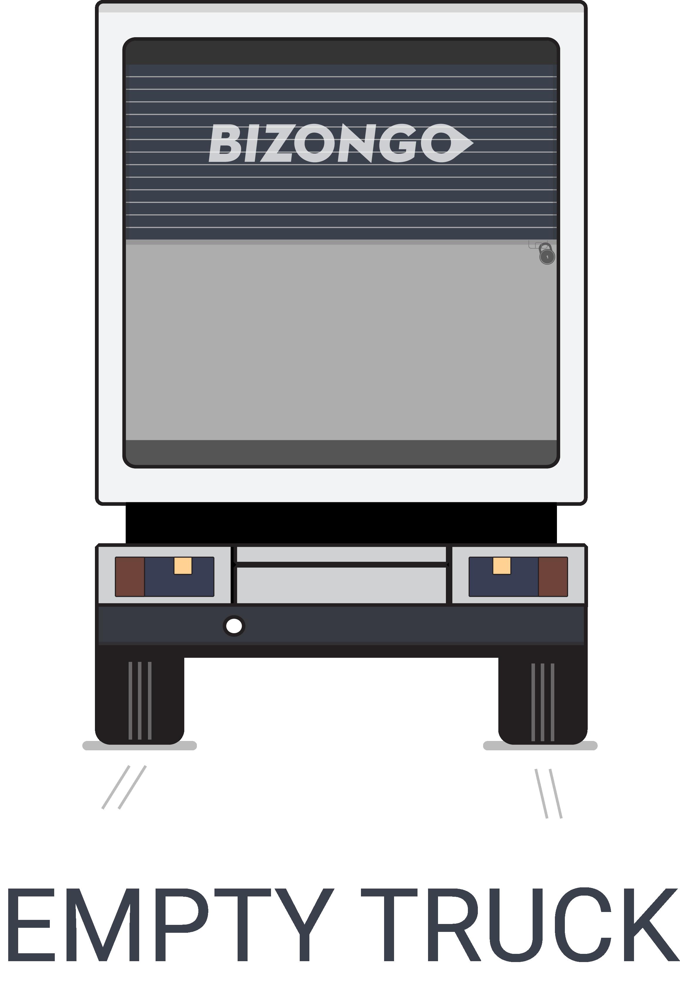 Empty truck icon